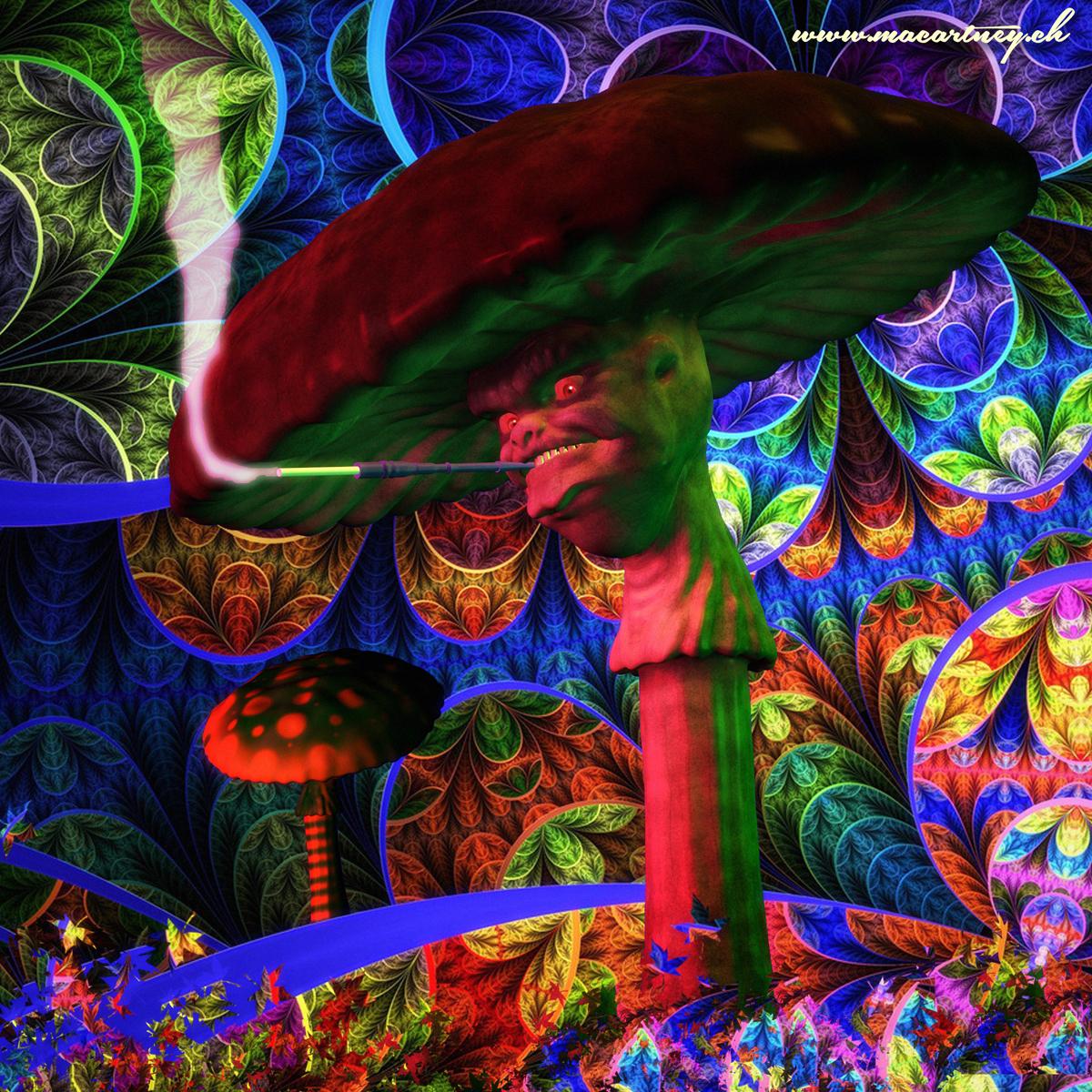 Magic Mushroom Drawings Magic Mushroom Sideview